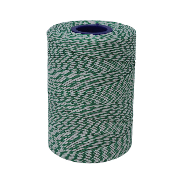 Rayon 6T Green & White Butchers String/Twine Size in 330m (400g). From £5.17 per Spool.