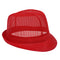 Red Nylon Trilby Hat - Large