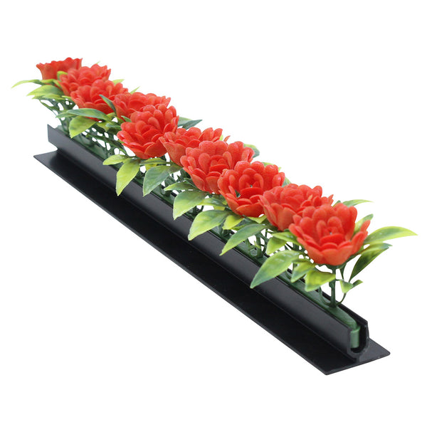 Rose Garnish Black Base 12/Box