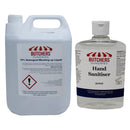 HAND SANITISER GEL - 500ML + WASHING UP LIQUID WITH 10% DETERGENT - 5LTR