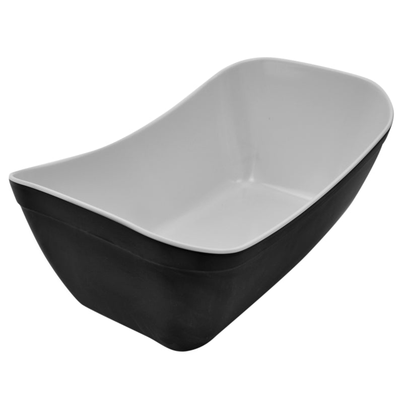 1/4 1.8L Verdura Curved Display Crock - Black Melamine