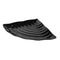 Curved Wavy Platter 270 x 374 x 38mm - Black Melamine