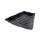Curved Wavy Platter 260 x 247 x 38mm - Black Melamine