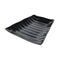 Curved Wavy Platter 270 x 275 x 38mm - Black Melamine