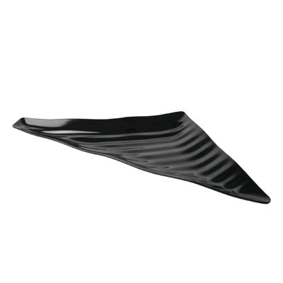 Curved Wavy Platter 539 x 376 x 38mm (Right) - Black Melamine