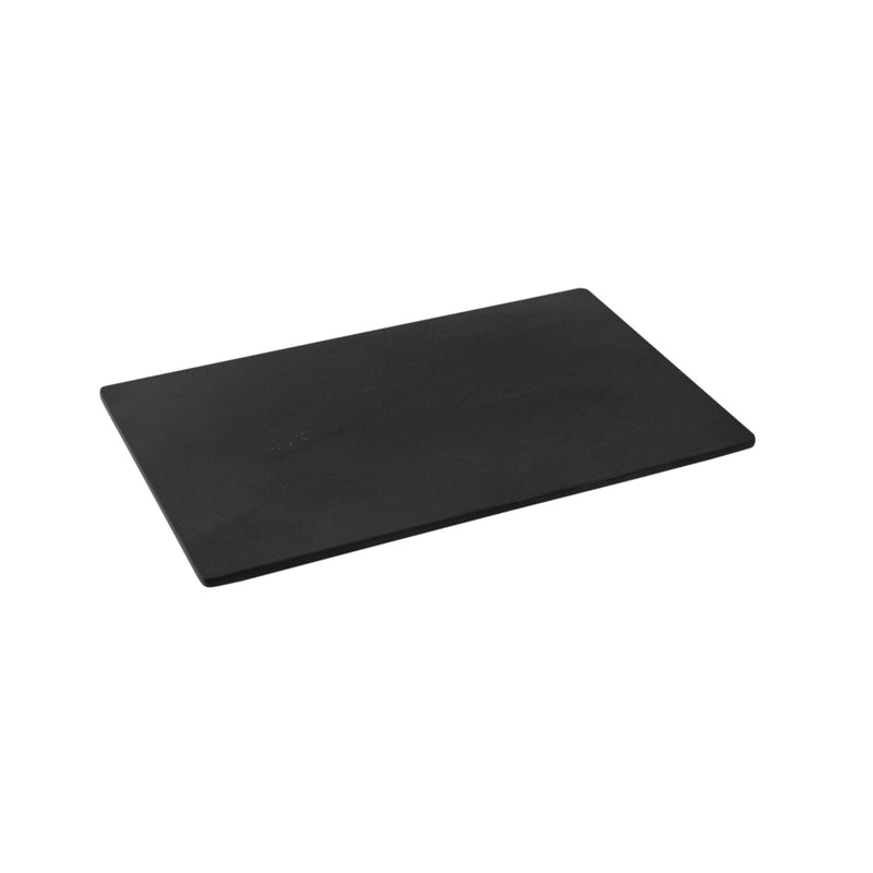 1/4 Slate Effect Display Serving Tray Platter - Black Melamine