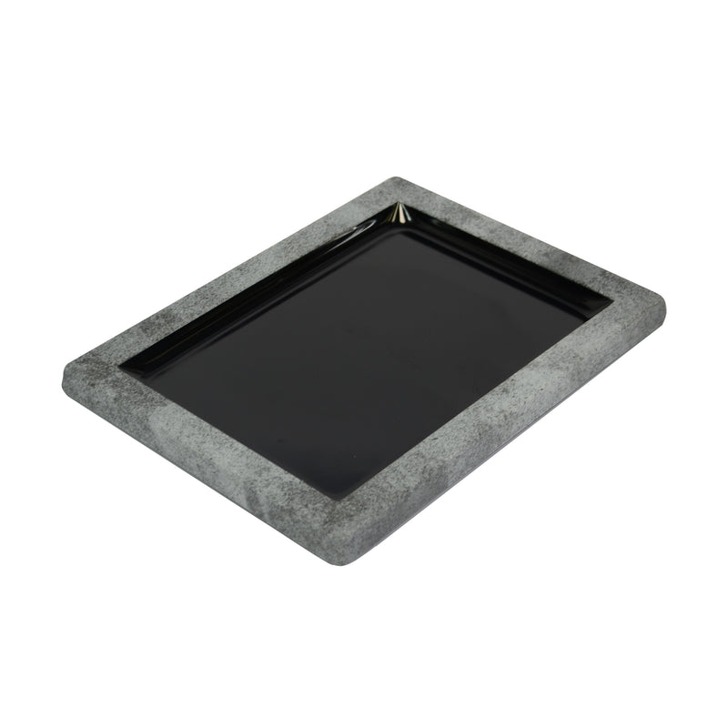 Urban 280 x 210 x 21mm Tray - Black Melamine