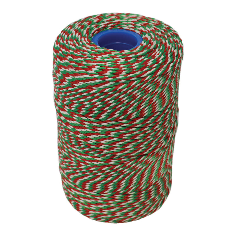 Rayon No 5 Red, White & Green Butchers String/Twine  Size in 100m (190g). From £2.75 per Spool