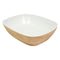 1/2 Tura Gastronorm Curved Display Crock - Natural Melamine
