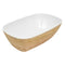 1/4 Tura Gastronorm Curved Display Crock - Natural Melamine