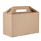 380 x 300 cardboard hamper/turkey erected box with handle.