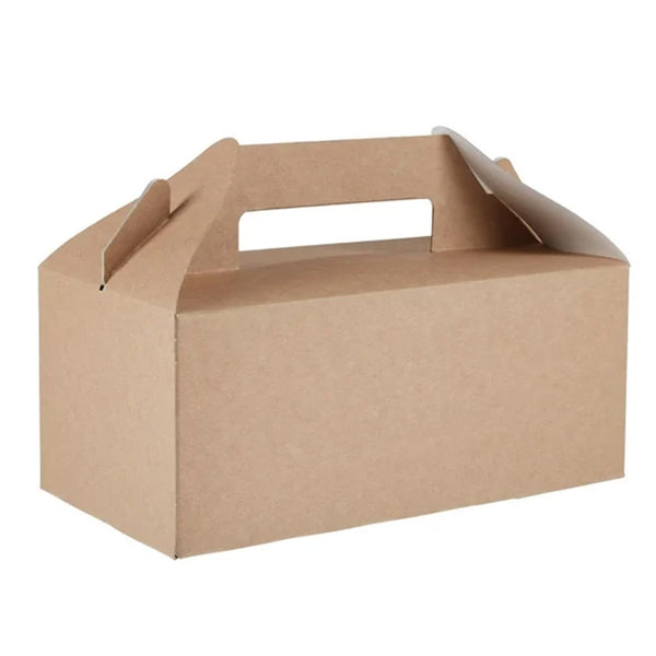 141 x 257 cardboard hamper/turkey crown erected box with handle.