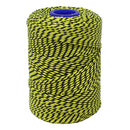 Polyester Yellow & Black Butchers String/Twine  Size in 100m (225g). From £4.00 per Spool