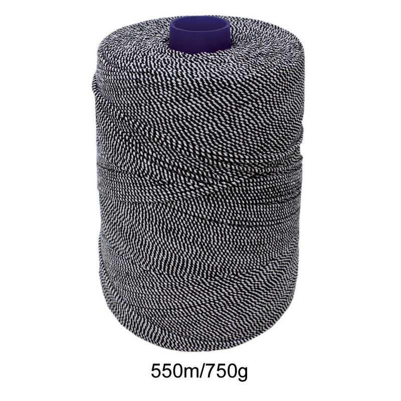 Black/White Elasticated Machine String/Twine  Size in 1,754m/kg (800g).  From £8.00 per spool
