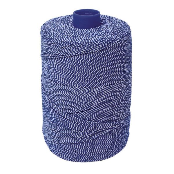 Blue/White Elasticated Machine String / Twine  Size in 1,904m/kg (800g). From £8.00 per spool