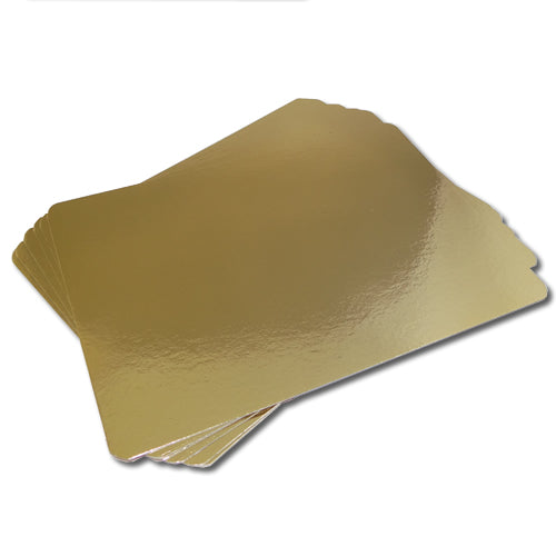 Gold Silver Meat/Salmon Backing Boards 230mm x 220mm
