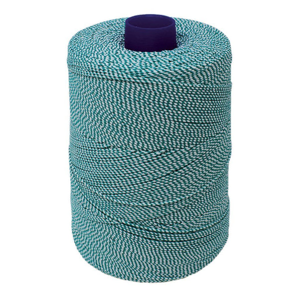 Green/White Elasticated Machine String/Twine  Size in 1,754m/kg (800g). From £8.00 per Spool