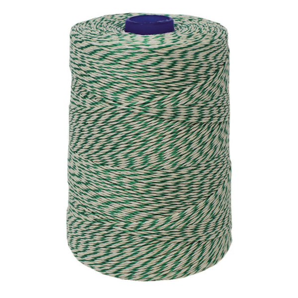 Green/White Non-Elasticated 2000T Machine String / Twine  Size in 900m (900g). From £8.35 per spool