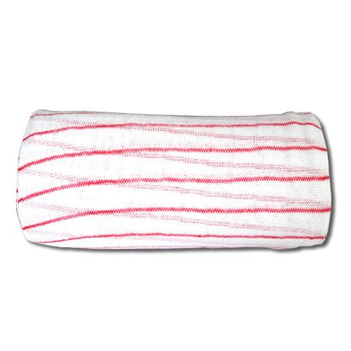 Muslin Cloth/Stockinette - White and Red (800gm Roll). From £3.76 per Roll