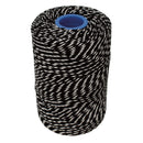 Polyester Black & White Butchers String/Twine  Size in 200m (425g). From £8.50 per Spool