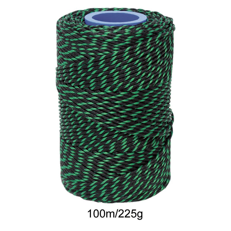 Polyester Green & Black Butchers String/Twine  Size in 100m (225g). From £4.00 per Spool