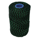 Polyester Green & Black Butchers String/Twine Size in 200m (425g).  From £8.50 per Spool