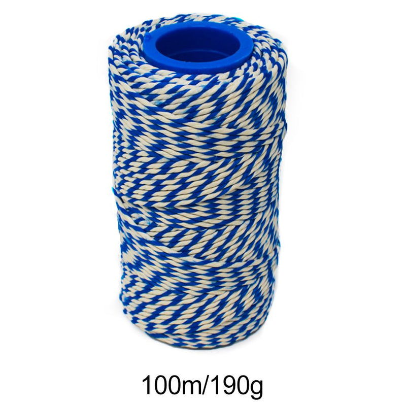 Rayon No 5 Blue & White Butchers String/Twine  Size in 100m (190g). From £2.60 per Spool