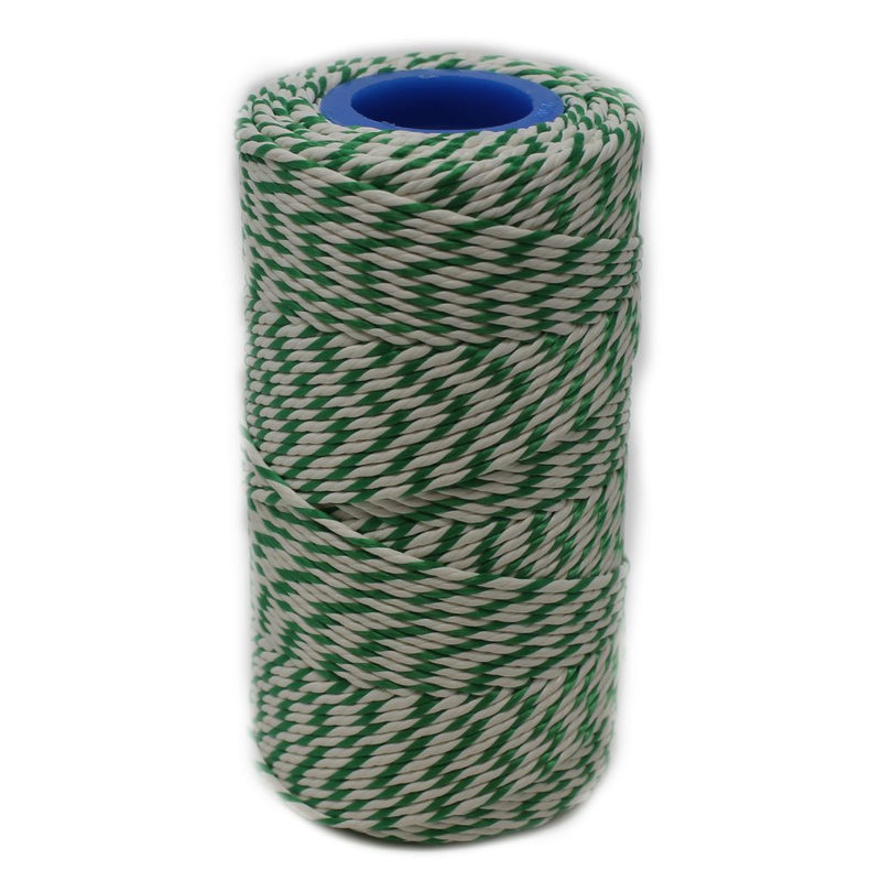 Rayon No 5 Green & White Butchers String/Twine  Size in 100m (190g). From £2.60 per Spool