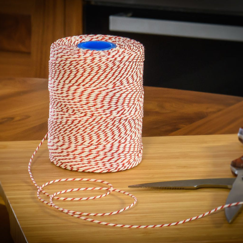 Rayon No 5 Red & White Butchers String/Twine  Size in 260m (500g). From £5.85 per Spool