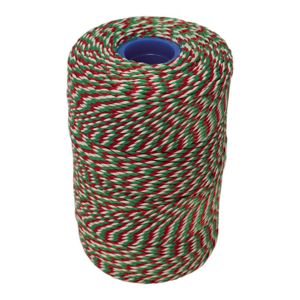 Rayon No 5 Red, White & Green Butchers String/Twine  Size in 260m (500g). From £6.60 per Spool