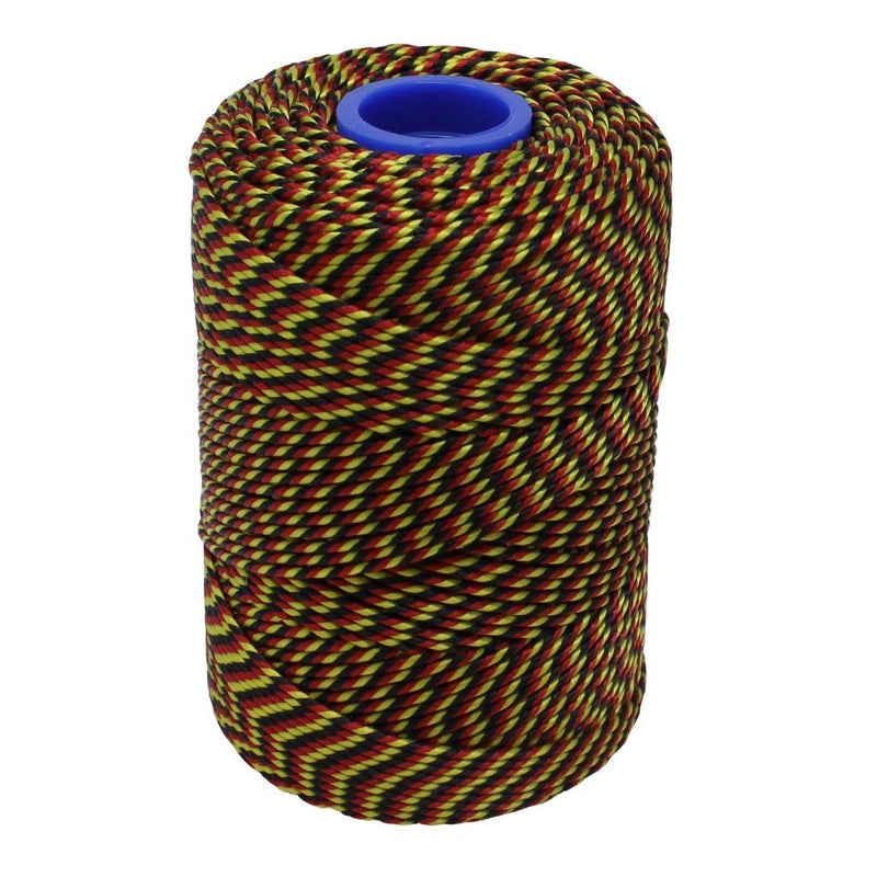 Polyester Red, Black & Yellow Butchers String/Twine  Size in 100m (225g). From £4.00 per Spool