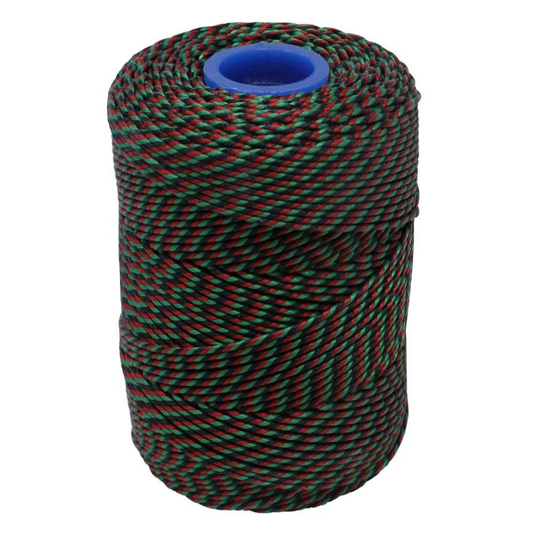 Polyester Red, Green & Black Butchers String/Twine  Size in 100m (225g). From £4.00 per Spool