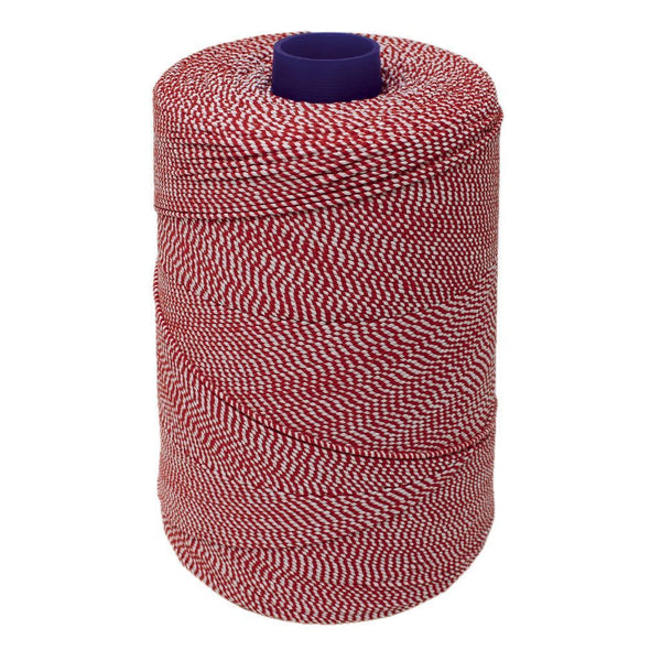 Red/White Elasticated Machine String/Twine. Size in 1,754m/kg (800g). From £8.00 per Spool