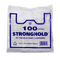Stronghold hi-tensile white vest carrier bags packed.