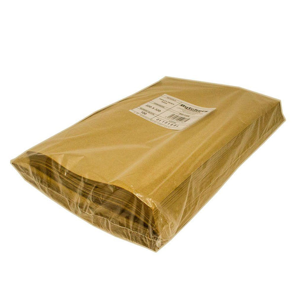 Wrapped triplex premium brown paper vacuum bags.