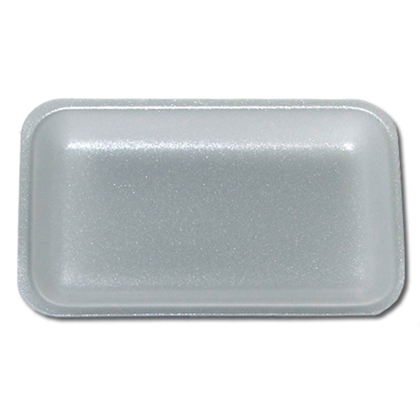 White polystyrene food tray.