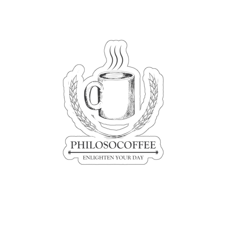 PhilosoCoffee Kiss-Cut Stickers