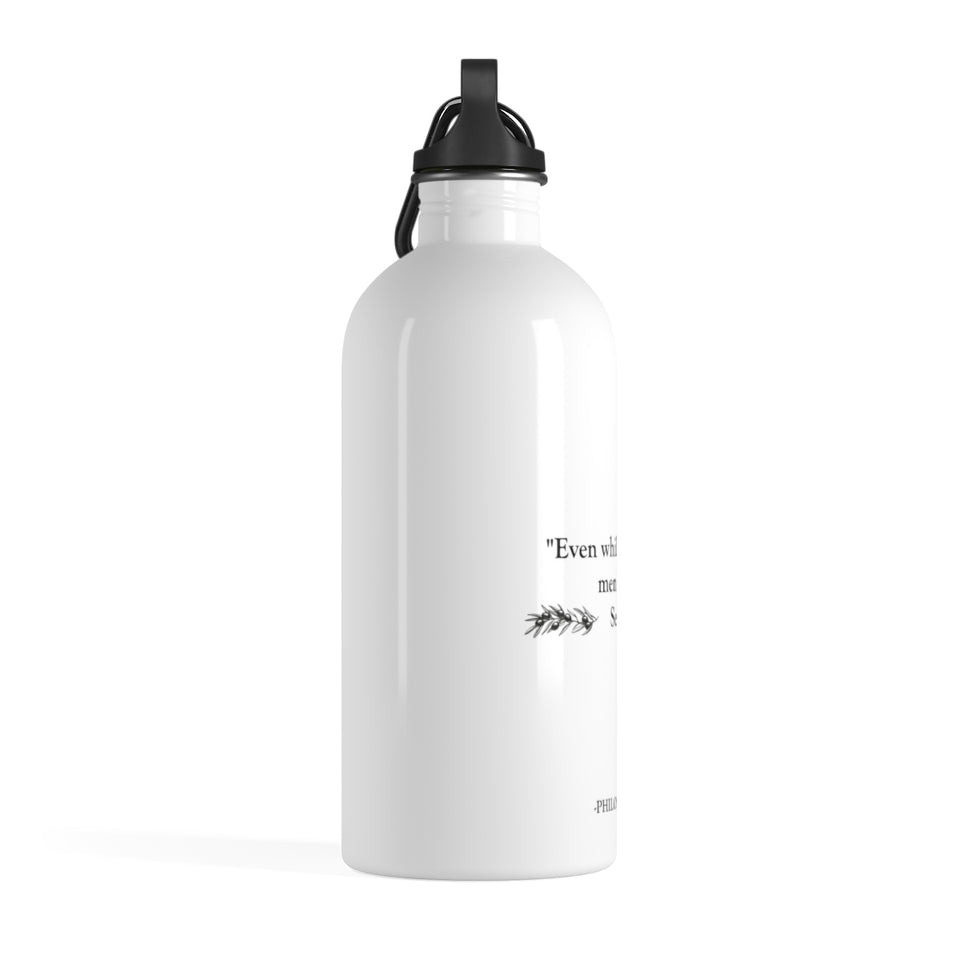 """They Learn"" Stainless Steel Water Bottle - PHILOSOCOFFEE"