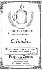 Colombian Single Origin - PHILOSOCOFFEE