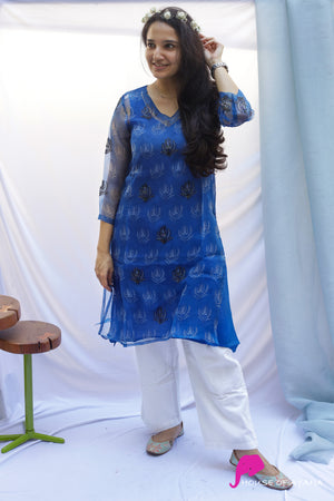 Down Under Organza Kurti