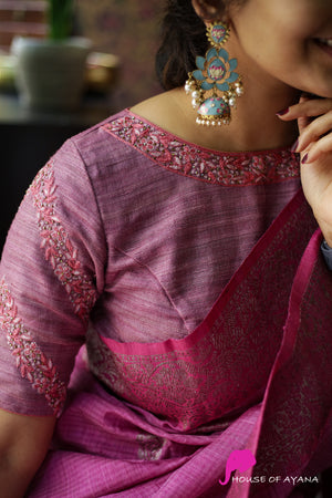 Lotus Petal Embroidered Blouse
