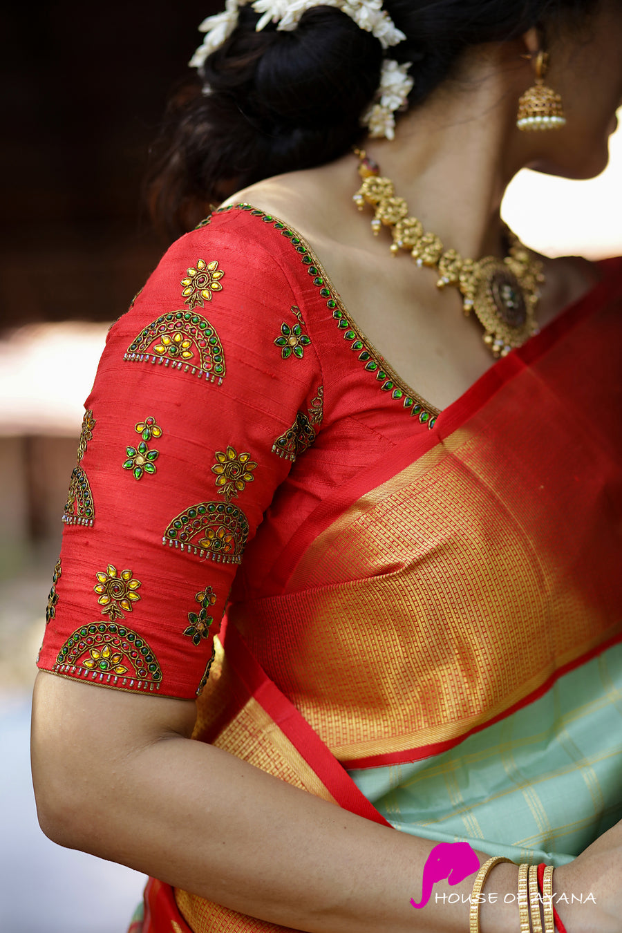 Royal Jhumka Embroidered Blouse