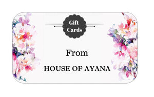 Gift Card from House of Ayana