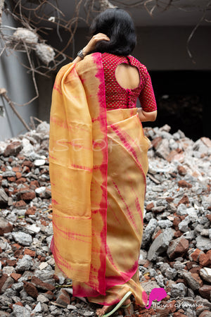 Shop Readymade Velvet blouse with Saree