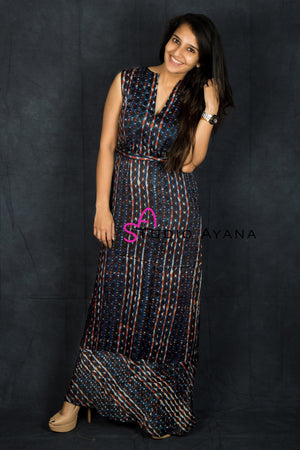 Workafella Fitted Maxi Dress