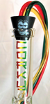 "CORKY 15.5"" Rasta Beaker with Perc and FREE InstaHookah"