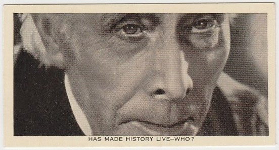 George Arliss 1936 Ardath Who Is This Trading Card #2