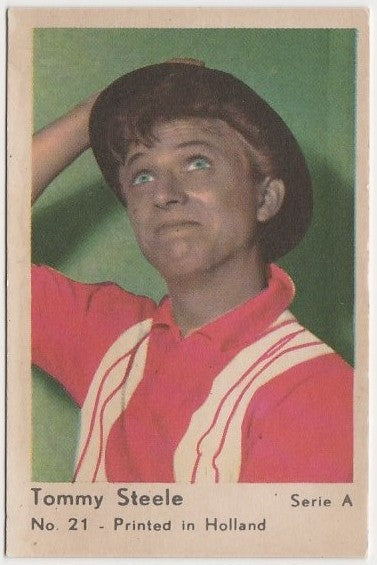 Tommy Steele 1964 Dutch Gum Trading Card from Greece A #21