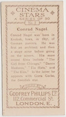 Conrad Nagel vintage 1929-33 Godfrey Phillips Cinema Stars Trading Card #3