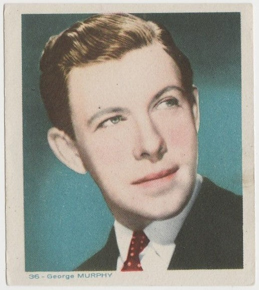 George Murphy Late 1930s Colorful Paper Stock Trading Card #36 Blue Text